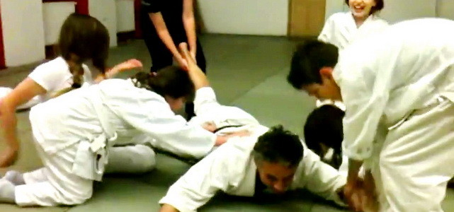 Last relaxed aikido kids training in 2014 – House of Aikido 30.12.2014.