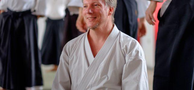 Michael Holm prvi put u Kući aikida
